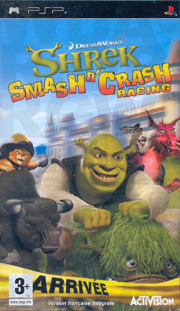 Shrek Smash n' Crash Racing sur PlayStation Portable (PSP)